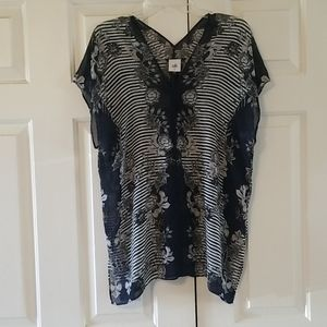 Cabi sheer floral tunic